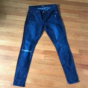 7 for all Man Kind distressed skinny jeans